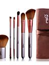 Professionell Makeupborstar Borstsatser 6pcs Gethårborste / Syntetiskt Hår Sminkborstar för Makeupborstset
