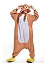 Vuxna Kigurumi-pyjamas Björn Djurmönstrad Onesie-pyjamas Polär Ull Orange Cosplay För Herr och Dam Pyjamas med djur Tecknad serie Festival / högtid Kostymer