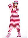 Vuxna Kigurumi-pyjamas Katt Djurmönstrad Onesie-pyjamas Polär Ull Rosa Cosplay För Herr och Dam Pyjamas med djur Tecknad serie Festival / högtid Kostymer
