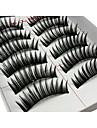 Ögonfrans Lösögonfransar 20 pcs Volym Lockigt Extra lång Fiber Dagligen Förlänger ögonkanten - Smink Vardagsmakeup Kosmetisk Skötselprodukter