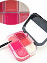 6 färger Gelé Läppglans Fuktig / Skimmrig Färgat glans / Fukt Smink Kosmetisk Skötselprodukter