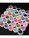 Nagellack UV-gel 8ml 36 pcs Glitters / UV färggel Långvarig soak-off Glitters / UV färggel