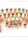 100-bit medborgare sjunker trä kunskaps domino leksaker