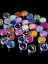 36 pcs Glitter & Poudre / Akrylpulver / Dekorationssatser Abstrakt / Klassisk Dagligen