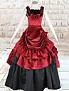 Klänningar Gotisk Lolita lolita tillbehör Klänning Siden Halloweenkostymer / Lång längd
