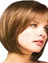 Syntetiska peruker Stil Utan lock Peruk Brun Syntetiskt hår Brun Peruk