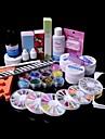 36st glitter uv gel cleanser primer nail art kit set