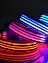 färgade ränder serien ledde lysande polyester krage för katter hundar (blandade färger, storlekar)