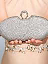 Dam Kristall / Strass Metall Aftonväska Rhinestone Crystal Evening Bags Guld / Svart / Silver / Bröllopsväskor / Bröllopsväskor