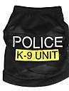 Katt Hund T-shirt Hundkläder Svart Blå Rosa Kostym Terylen Polis / Militär Mode XS S M L