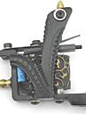Professionell Tattoo Kit Tattoo Machine - 4 pcs Tatueringsmaskiner, Professionell LCD strömförsörjning 4 x gjutjärn tatuering maskin för linjer och skuggning / Fodral inkluderat