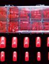 500 st stora röda falska fullständiga spik tips täcka dekoration för finger akryl tips
