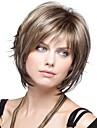 Syntetiska peruker Vågigt Vågigt Bob-frisyr Med lugg Peruk Blond Korta Syntetiskt hår 8 tum Dam Blond