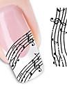 1 pcs 3D Nagelstickers Vattenöverföringsklistermärke nagel konst manikyr Pedikyr Blomma / Bröllop / Mode Dagligen / 3D Nail Stickers