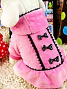 Hund Kappor Vinter Hundkläder Svart Rosa Kostym Terylen Cotton XS S M L XL