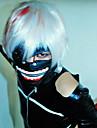 Mask Inspirerad av Tokyo Ghoul Cosplay Animé Cosplay-tillbehör Mask Läder Herr Halloween kostymer