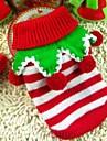 Hund Tröjor Vinter Hundkläder Vit / Röd Grön / Röd Vit / Grön Jul Kostym Blandat Material Cosplay XXS XS S M L