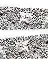 1 pcs 3D Nagelstickers Vattenöverföringsklistermärke nagel konst manikyr Pedikyr Vackert Punk / Mode Dagligen / 3D Nail Stickers