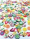 300 pcs Nail Art Kit Frukt Fimo Skivor Vackert nagel konst manikyr Pedikyr Dagligen Frukt / Mode
