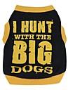 Katt Hund T-shirt Hundkläder Andningsfunktion Svart / Orange Svart / Gul Kostym Cotton Bokstav & Nummer Ledigt / vardag XS S M L