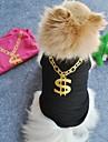 Katt Hund T-shirt Hundkläder Svart Grön Blå Kostym Terylen Cosplay Bröllop XS S M L