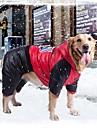 Hund Kappor Vinter Hundkläder Orange Gul Röd Kostym Stor hund Terylen Cotton Vattentät M L XL XXL 36