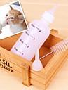 fyra delar ett inställt mjölkflaska för hundar och katter
