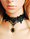 Dam Classic Lolita Victoriansk Klänningar Smycken Halsband Enfärgad Spets Spets lolita tillbehör / Klassisk / Traditionell Lolita