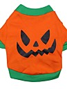 Katt Hund Dräkter / Kostymer T-shirt Outfits Hundkläder Andningsfunktion Orange Kostym Cotton Tecknat Cosplay Halloween XS S M L