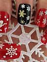 jul diverse pattem snöflingor konstruktion 3d nail art klistermärken dekaler