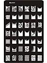 Metall Till finger tå Vackert nagel konst manikyr Pedikyr Abstrakt / Klassisk / Tecknat Dagligen / stämpling Plate