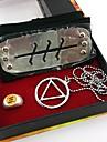 Smycken Huvudbonad Inspirerad av Naruto Cosplay Animé Cosplay-tillbehör Dekorativa Halsband Pannband Ring Legering Herr Varm Halloween kostymer