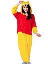 Vuxna Kigurumi-pyjamas Björn Djurmönstrad Onesie-pyjamas Flanell Gul Cosplay För Herr och Dam Pyjamas med djur Tecknad serie Festival / högtid Kostymer