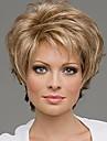 Syntetiska peruker Lockigt Lockigt Peruk Blond Blekt Blont Syntetiskt hår 10 tum Dam Blond