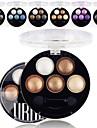 6 färger Ögonskuggor Puder Matt Skimmrig Öga Matt Skimmrig Glittrig rökig Vardagsmakeup Sotig makeup Kosmetisk Present