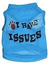 Katt Hund T-shirt Hundkläder Blå Kostym Terylen Bokstav & Nummer XS S M L