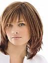 Syntetiska peruker Rak Med lugg Peruk Mellan Ljusbrun Syntetiskt hår Dam Hög kvalitet Brun