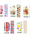 14pcs nail art klistermärken k serie no.1023-1027 (diverse mönster)