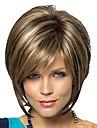 Syntetiska peruker Rak Rak Bob-frisyr Pixie-frisyr Med lugg Peruk Korta Brunt med Blont Syntetiskt hår Dam Brun