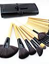 Professionell Makeupborstar Borstsatser 24pcs Professionell Ponnyborste / Syntetiskt Hår / Häst Sminkborstar för Makeupborstset / Artificiella Fiber-borstar