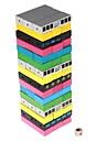 färger Jenga designen trä byggstenar Jenga leksak inställd för barn