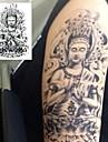 1 pcs tillfälliga tatueringar Engångsvara / Säkerhet arm / Ben Vattenöverföringsklistermärke Tatueringsklistermärken / Tattoo Sticker