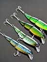 4 pcs Fiskbete Hårt bete Spigg Flytande Bass Forell Gädda Sjöfiske Färskvatten Fiske Hårt Plast