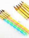 5st 5 färger storlekarna 2-vägs professionell uv gel pensel inställd akryl spik konstmålning draw pensel