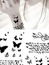 1 pcs tillfälliga tatueringar Högupplöst / Miljövänlig Ansikte / Kropp / brachium Vattenöverföringsklistermärke Tatueringsklistermärken