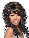 mode mixa färg långt lockigt kvinna syntetiska peruker hår