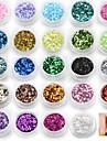 24 pcs Glitter Paljetter nagel konst manikyr Pedikyr Dagligen Abstrakt / Mode