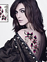 1 pcs Tatueringsklistermärken tillfälliga tatueringar Blomserier Speciell design / Ny Design Body art Ansikte / Kropp / Ben