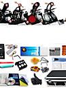 DRAGONHAWK Professionell Tattoo Kit Tattoo Machine - 4 pcs Tatueringsmaskiner LCD strömförsörjning 4 x legering tatuering maskin för lining och skuggning / Fodral inkluderat
