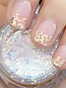1 pcs Glitter nagel konst manikyr Pedikyr Dagligen Abstrakt / Bröllop / Mode